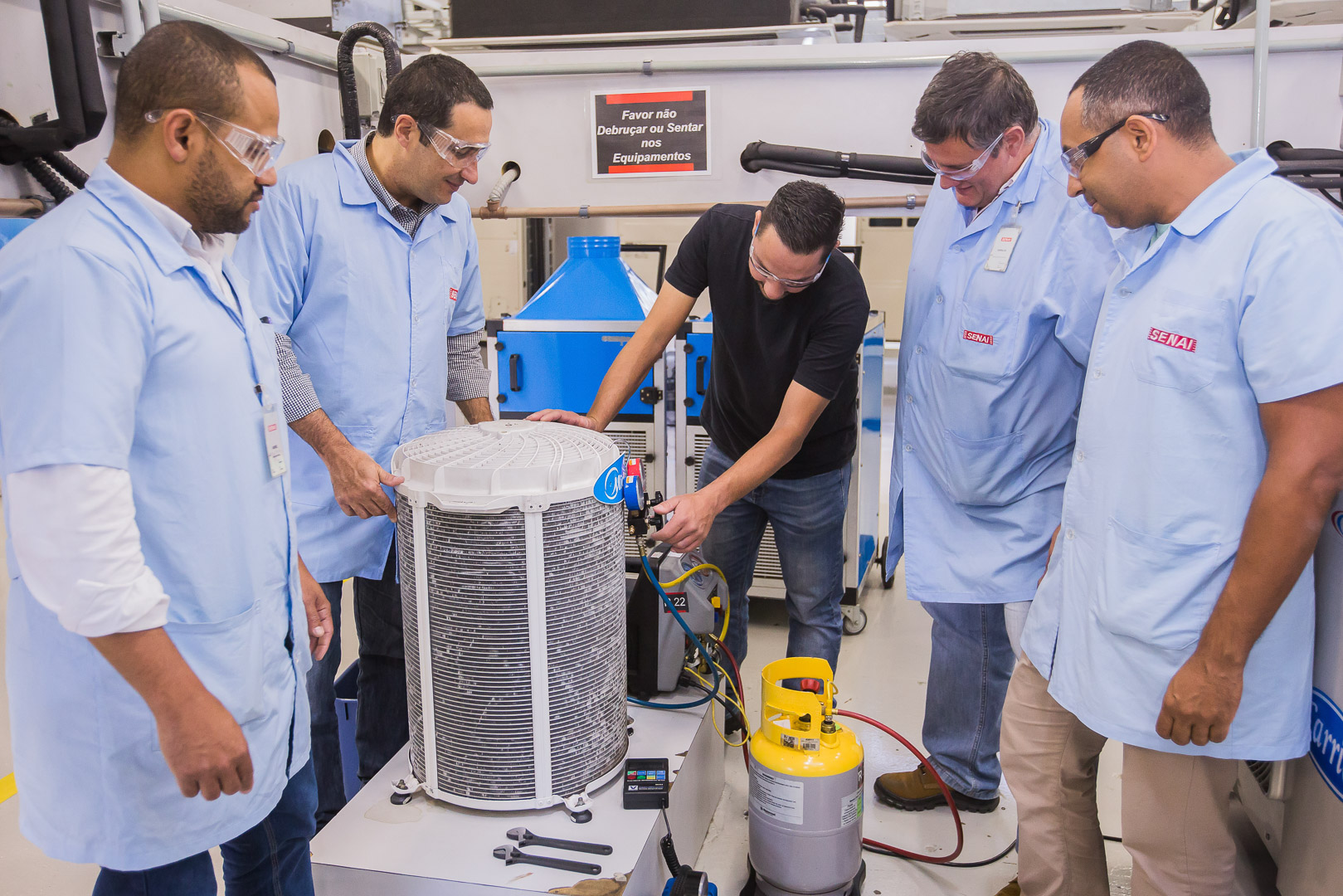 Capacitação de professores para Cursos de Boas Práticas em Sistemas de Ar Condicionado começa no SENAI-SP